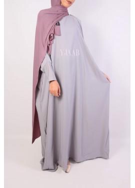 Abaya Saoudienne - Gris clair