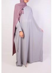 Saudi abaya- light grey