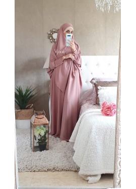 Abaya Saoudienne - Vieux rose