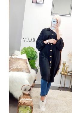Velvet shirt - Black
