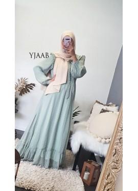 Robe Jaïda - Vert pastel