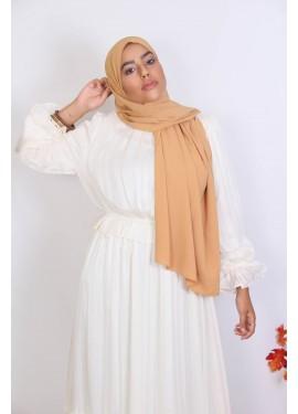 Hijab soie de medine - mustard