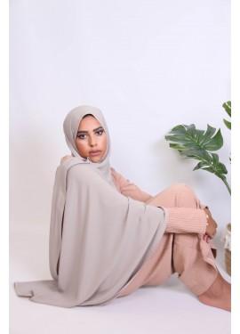 Hijab soie de medine - greige