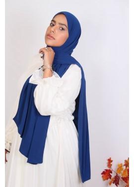 Medina Seide Hijab - Meerblau