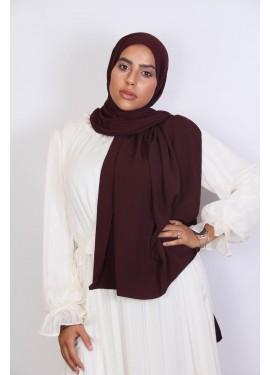 Medina Seide Hijab - Aubergine
