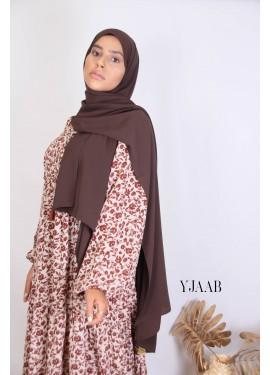 Medina Seide Hijab - chocolate