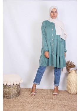 Tunic  Hasna - duck green
