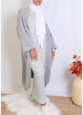 Cocoon cardigan - light grey
