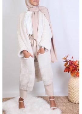 Cocoon cardigan - Beige