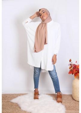 asymmetrical shirt - white