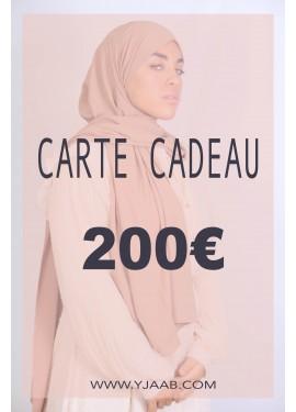 Carte cadeau de 200€