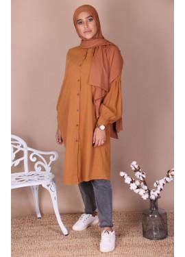 Peach skin shirt - Caramel