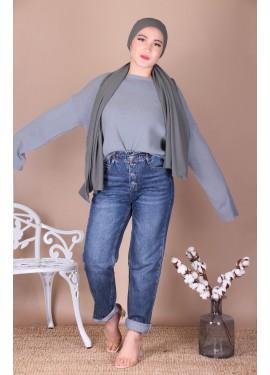 Jeans MOM - Bleu