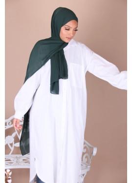Crepe hijab - Dark green