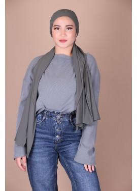 ribbed jersey hijab - Grey...