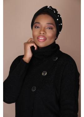 pearl turban - Black