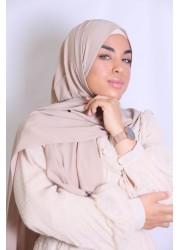 Hijab soie de medine -Beige