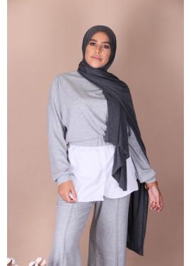 Hijab jersey premium - Gris...