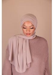 Hijab croisée à enfiler - Taupe