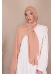 Hijab croisée à enfiler - Pêche