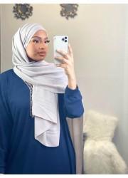 Hijab croisée à enfiler - Grey light