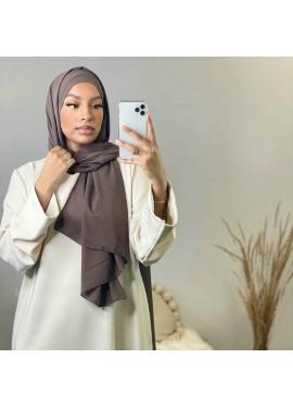 Hijab croisée à enfiler -Brown