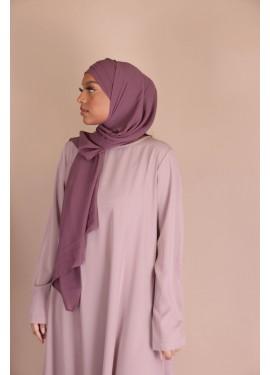 Hijab croisée à enfiler - plum