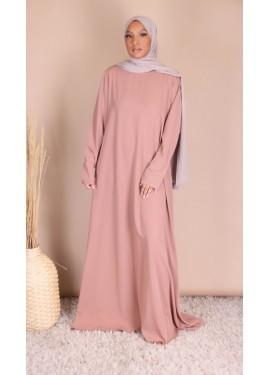 Abaya evasé - Old pink