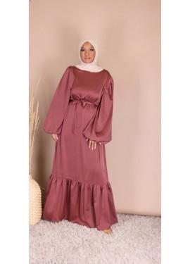 Robe satinée - Framboise