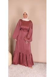 Satin dress - Raspberry