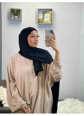 Pull-on Jersey Hijab - Schwarz