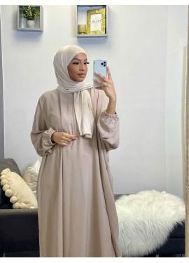 Pull-on Jersey Hijab - Beige