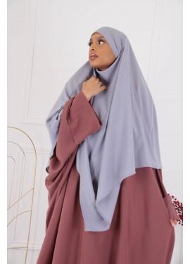 Khimar mi- long - Grey blue