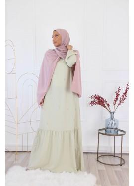 Jannah dress - Almond green