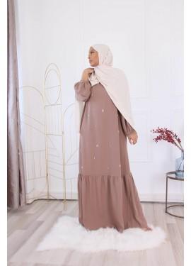 Jannah dress - iced brown