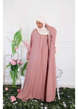 Abaya HAWA - Old pink