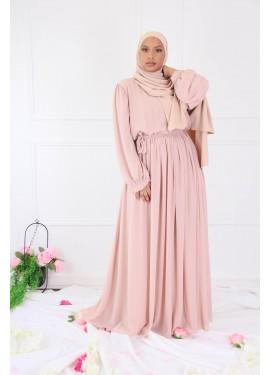 Long chiffon dress - Neutral