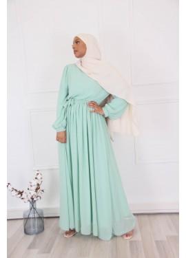 Long chiffon dress - Green...