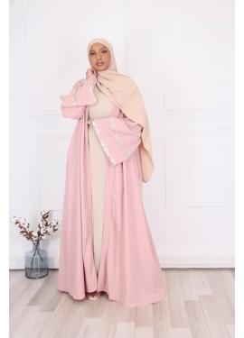 Abaya Kimono Eïd - Pink