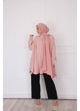 Oversized shirt - Pink neutral