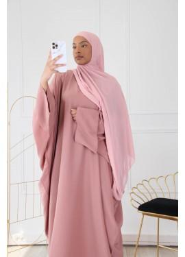 Abaya Émirate - Vieux rose