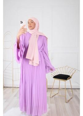 Pleated dress - Mauve