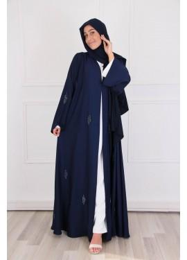 Abaya Dubai silk - midnight...