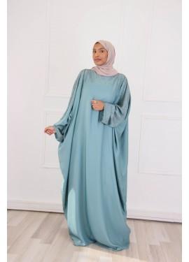 Abaya somptueuse - Vert Canard
