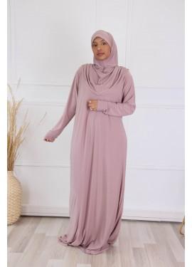 Prayer abaya - Lilac