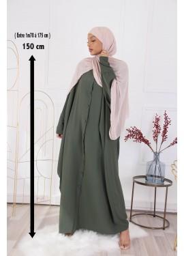 Abaya Sourour 150 cm - Kaki