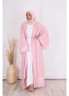 Ruffled kimono - Pink