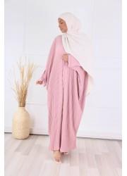 Pleated abaya - Pink