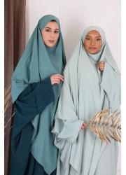 Khimar Long medina silk - Duck green