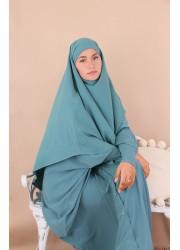 Khimar short medina silk - duck green
